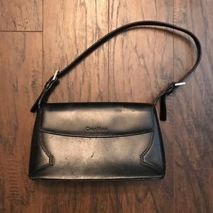 Cole Haan Black Structured Leather Tote Bag